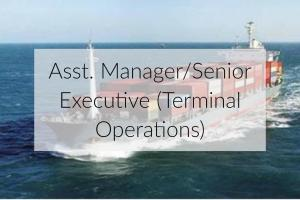 Job opening for an assistant manager or senior executive for terminal operations