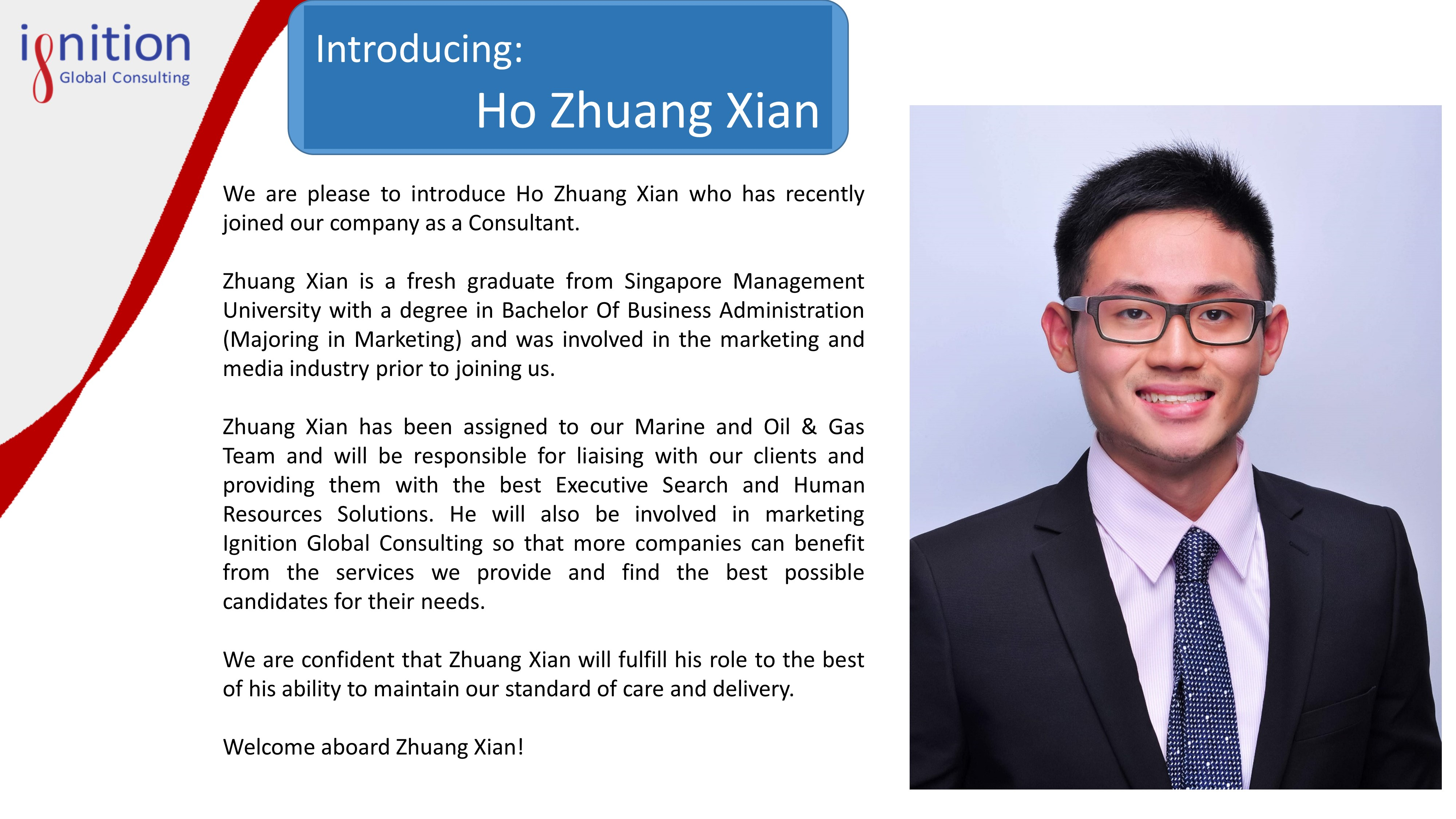 New employee announcement ignition global new employee announcement zhuang xian thecheapjerseys Gallery