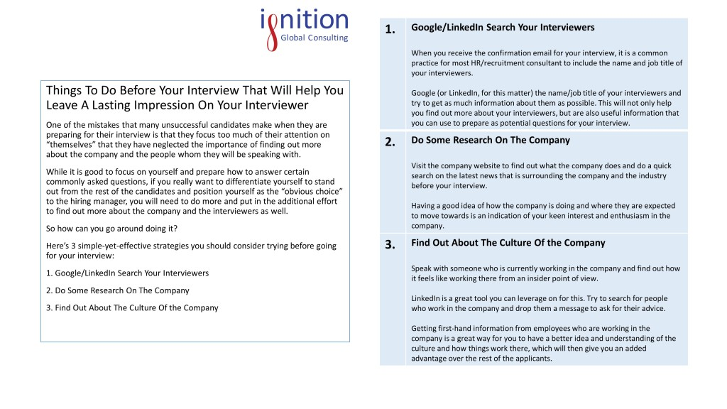 Things To Do Before Your Interview